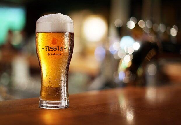 Бокал пива хеллес